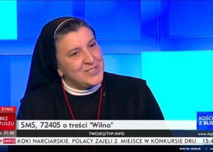 Piękny reportaż z Wilna – s. Michaela w TVP Info